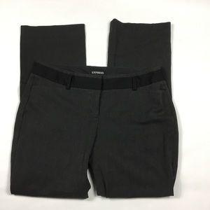 Express Editor Gray Black Straight Leg Pants 12